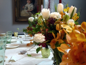 Flowers for an Early Fall Table