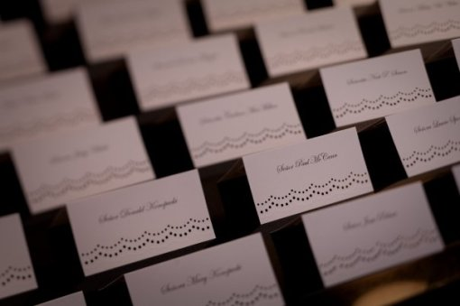 Pretty Lace-Patterned Placecards.