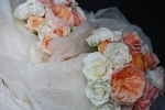 Bouquets wrapped for travel